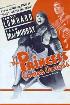 A Fred MacMurray Marathon - The Princess Comes Across Carole Lombard and Fred MacMurray Carole Lombard, Two Movies, Classic Movies, Movie Tv, Classic Comedies, Double Indemnity, Jean Arthur, Brooklyn, Nostalgia