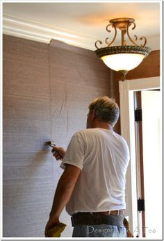 Tips for hanging grasscloth wallpaper