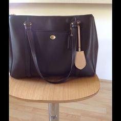 Classic Coach Chocolate Leather Handbag.