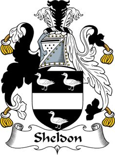 EnglishGathering - The Sheldon Coat of Arms (Family Crest) and Surname History.