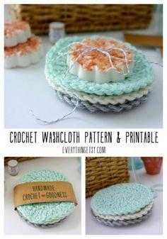 DIY Crochet Washcloths {Free Circle Pattern} (Everything Etsy)
