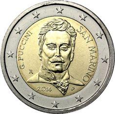 """Moneta Commemorativa """"90° anniv. morte Giacomo Puccini"""" Anno: 2014 Stato: San Marino"""