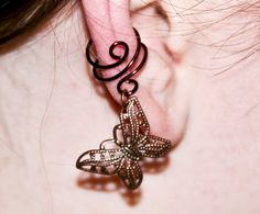 Filigree Butterfly Ear Cuff by BarbedLotusDesigns on Etsy, $8.00