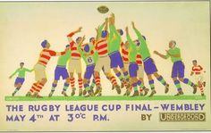 1929 Rugby League Challenge Cup Final Poster