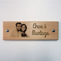 Engraved Wooden Name Plate - unique gifts for housewarming - shop with lust _ online shopping in india Wooden Name Plates, Door Name Plates, Name Plates For Home, Wooden Door Design, Wooden Doors, Unique Housewarming Gifts, Unique Gifts, Name Plate Design, Name Boards