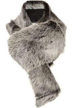 Donna Karan|Shearling scarf|NET-A-PORTER.COM - StyleSays