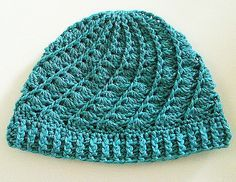 Devine hat - free pattern This is one of my favourite hat patterns, it makes up quickly and is, well, devine!  :-)