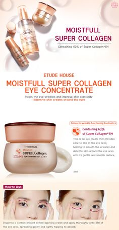 Etude House Moistfull Super Collagen Eye Concentrate 25ml - Etude House Beautynetkorea Korean cosmetic