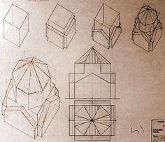 Fasi costruttive assonometriche e proiezioni di volumi architettonici