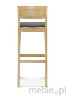 Komfortowy drewniany hoker BST-0955 dostępny również z tapicerowanym siedziskiem