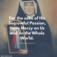 The first Sunday after Easter is Divine Mercy Sunday. This is dedicated to St. Faustina and Blessed Pope John Paul II. Catholic Quotes, Religious Quotes, Divine Mercy Sunday, St Faustina, Healing Scriptures, Pope John Paul Ii, Word Of God, Gods Love, Prayers