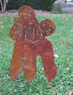 Poodle Garden Stake / Garden Decor / Pet Memorial / Lawn Ornament / Garden Art / Dog Breed. $38.99, via Etsy.