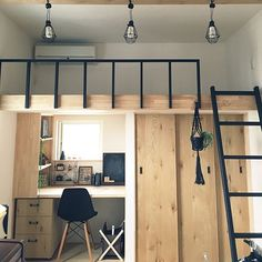 Loft Beds For Small Rooms, Small Room Design Bedroom, Small Apartment Bedrooms, Bedroom Furniture Design, Home Room Design, Small Bedroom Inspiration, Loft Bed Plans, Loft Room, Bedroom Layouts