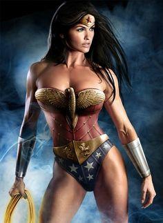 Wonder Woman Body Paint Costume for Halloween 2013