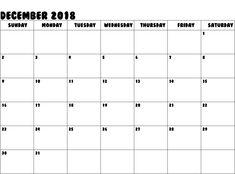 December 2018 Calendar Printable  #DecemberCalendar2018 For Kids.html
