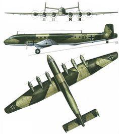 """Junkers Ju-390 V1 """"Gigant"""" strategic troop-transport."""