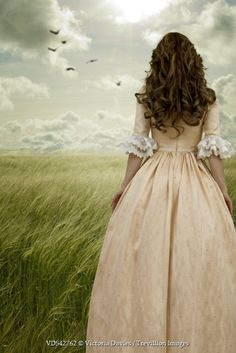 by Victoria Davies [historical woman standing in field]