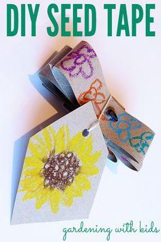 Gardening Activities for Kids: DIY Seed Tape | Childhood101