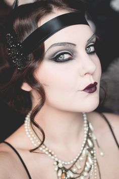 isadora halloween the great gatsby 20's makeup                                                                                                                                                                                 More