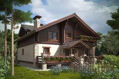 Дом «Шале» - великолепный коттедж с двумя огромными террасами!