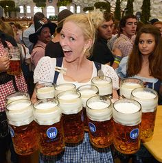 The Oktoberfest was marred by rain and clouds, with the opening weekend attracting just in Beer Festival Outfit, Octoberfest Girls, October Festival, Beer Maid, Festivals, Beer Girl, More Beer, German Beer, German Girls