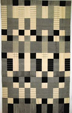 Gunta Stolzl. Wall hanging in double-weave technique, silk, 1964, 200x120 cm City of Zurich