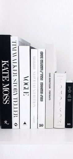 Black and white styling books for the office. Must have fashion books