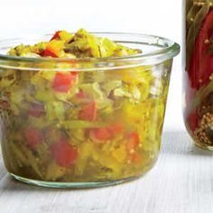 Creative Hot Dog Toppings | Zucchini and Bell Pepper Relish  | MyRecipes