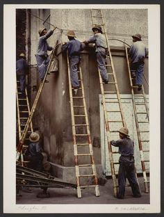 Michel Delaborde, Shanghai, (ouvriers) 1981. © Ministère de la culture (France), Médiathèque de l'architecture et du patrimoine, Diffusion RMN-GP