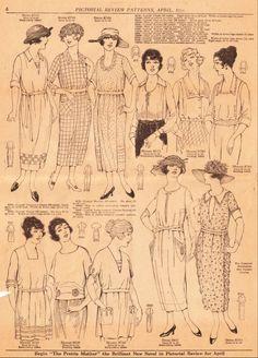 1920 patterns | 1920 Fashion Book Sample | Sense & Sensibility Patterns