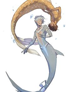 Note: Every fan art is NOT my property. Most of the fan arts … # Фанфик # amreading # books # wattpad Fantasy Character Design, Character Inspiration, Character Art, Male Mermaid, Mermaid Art, Fantasy Kunst, Fantasy Art, Fantasy Creatures, Mythical Creatures