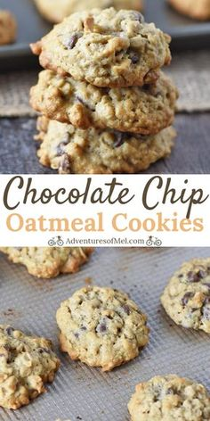 How to make the best oatmeal chocolate chip cookies Made with old fashioned rolled oats they re a little soft a little chewy and full of chocolatey goodness adventuresofmel oatmealcookies chocolatechip cookierecipes desserts Oatmeal Chocolate Chip Cookie Recipe, Healthy Oatmeal Cookies, Oatmeal Cookie Recipes, Chocolate Cookies, Old Fashioned Chocolate Chip Cookie Recipe, Cookies With Oatmeal, Recipes With Chocolate Chips, Oats Recipes, Chocolate Chocolate