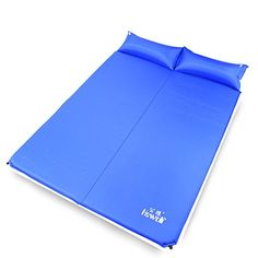 Hewolf Outdoor Waterproof Portable Selfinflating 2 Persons Double Camping Sleeping Pad with Pillow blue Thickness 3cm ** Check out this great product.(This is an Amazon affiliate link and I receive a commission for the sales)