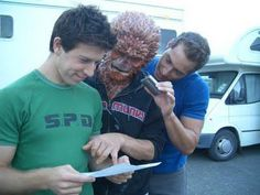 Some candids of Chris Violette behind-the-scenes of Power Rangers SPD