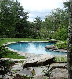Vermont Stone Pool View 2