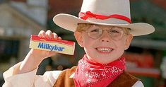 original milky bar - Google Search Nestle Chocolate, Cold Hard Cash, Uniform Design, Mens Gear, Cool Gear, Cowboy And Cowgirl, Man In Love, Bad Boys, Product Launch