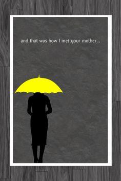 How I Met Your Mother Yellow Umbrella Poster Art by adesigngeek, $14.99
