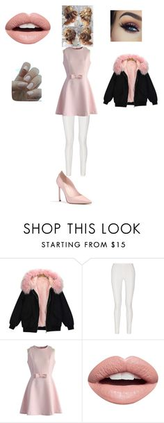"""Pinky kinky"" by hazelwoodnaomi ❤ liked on Polyvore featuring Donna Karan, Chicwish and Nevermind"