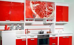 Merveilleux 22 Ideas To Create Stunning Red And White Kitchen Design