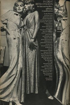 lame Editiorial by Norman Parkinson from Vogue UK, September Great British, British Style, British Fashion, Venus In Libra, Studio 54, Vogue Uk, Fashion Now, Glam Rock, Eye Candy