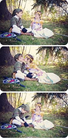 Adorable Kids Cosplay as Link and Zelda - Dorkly Picture