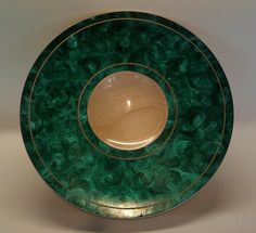 Sycamore platter, coloured with Turquoise Jo Sonja paint