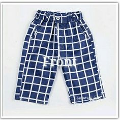 [New] BN Blue & White Checkered Bermudas. (Size:130,140,150,160.170). Fashionable Korean style boy's bermuda with elastic waistband. Made with thin stretchable cotton material. Comfy for SG weather. Suitable for boys between 7-14yrs old.