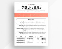 shop for resume template on etsy the place to express your creativity through the buying and selling of handmade and vintage goods - Templates For A Resume