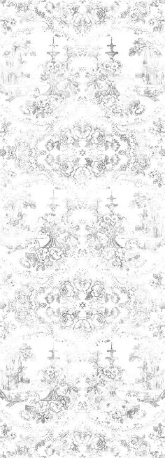 Motif wallpaper ALMOST WHITE DELFT BAROQUE by Mineheart design Young