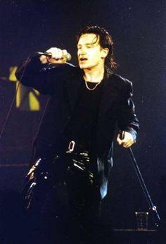 U2's Bono, Zoo TV Era, circa 1990's