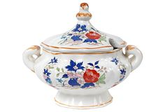 Hand-Painted Floral Soup Tureen on OneKingsLane.com