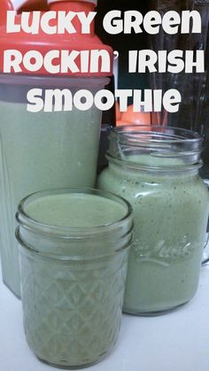 Lucky Green Rockin Irish Smoothie. St. Patricks day green smoothies