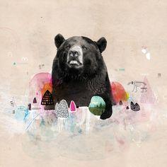 Painted bear by Hervé Dieudonné