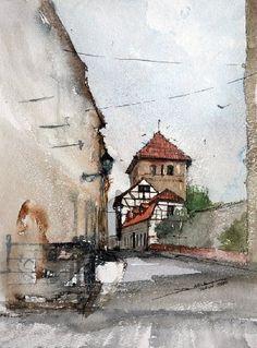 Painting Toruń - Artist Minh Dam